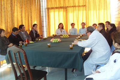 省中医学院领导及教授到康达洽谈戒毒合作