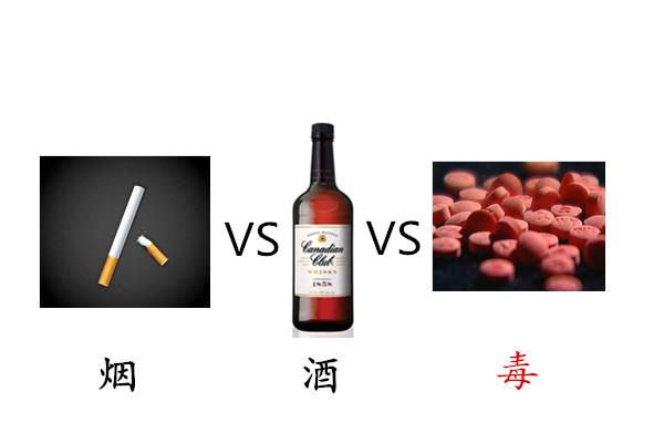 抽烟、喝酒、吸毒都会上瘾,三者能否相提并论?