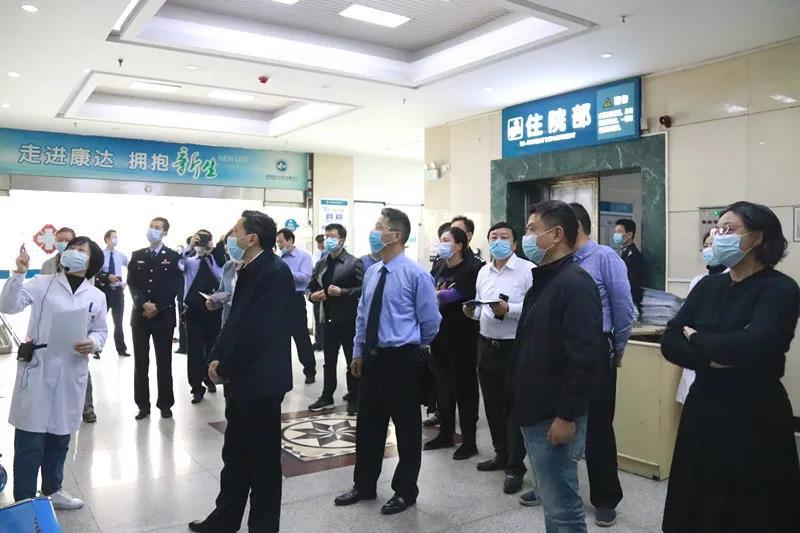 长沙市人民政府副秘书长杨小林率队莅临湖南康达视察指导